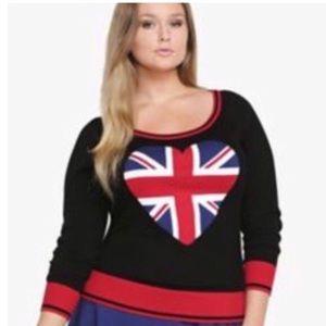 Union Jack heart sweater